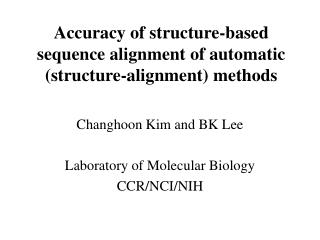 Accuracy of structure-based sequence alignment of automatic (structure-alignment) methods