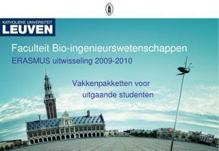 Faculteit Bio-ingenieurswetenschappen