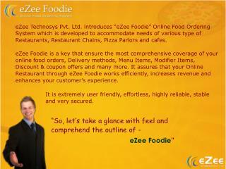 eZee Technosys Pvt. Ltd. introduces