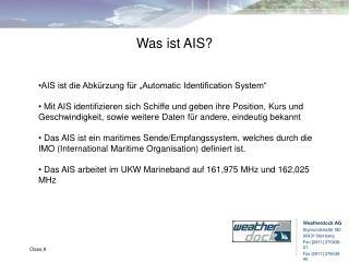 Was ist AIS?