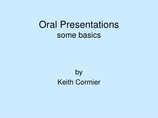 Power Point Presentations: Visual Aids for Effective Oral Presentations