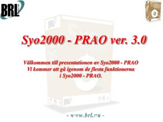 Syo2000 - PRAO ver. 3.0