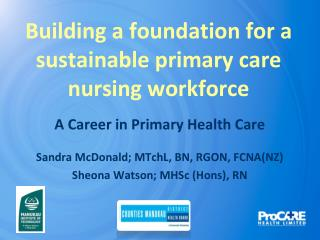Building a foundation for a sustainable primary care nursing workforce