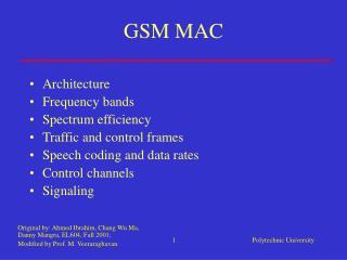 GSM MAC