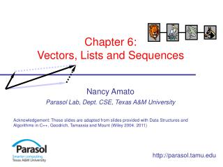 Chapter 6: Vectors, Lists and Sequences