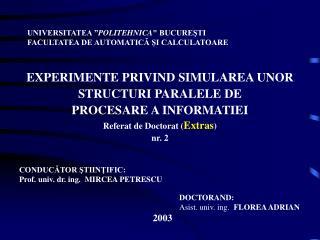"UNIVERSITATEA "" POLITEHNICA"
