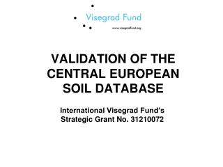 VALIDATION OF THE CENTRAL EUROPEAN  SOIL DATABASE