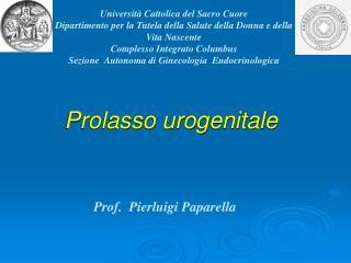 Prolasso urogenitale