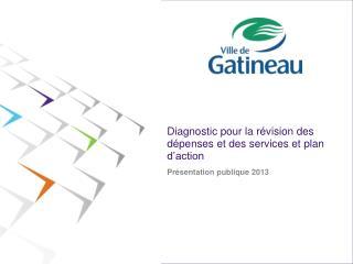 Diagnostic pour la révision des dépenses et des services et plan d'action