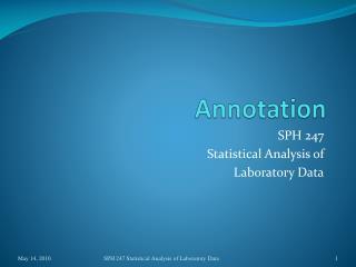 Annotation