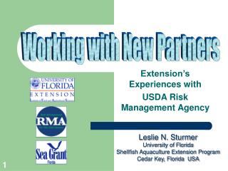 Extension's Experiences with  USDA Risk Management Agency