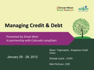 Managing Credit & Debt