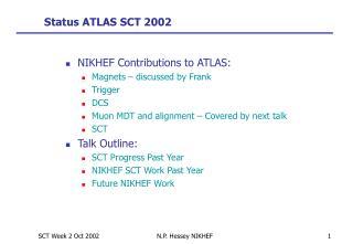 Status ATLAS SCT 2002