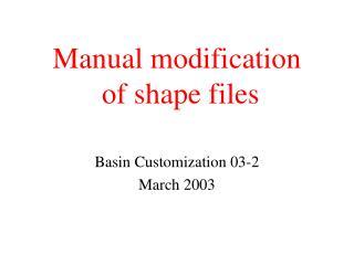 Manual modification  of shape files