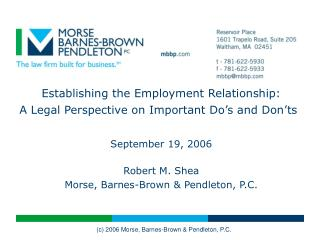 Establishing the Employment Relationship: A Legal Perspective on Important Do's and Don'ts