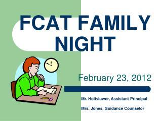 FCAT FAMILY NIGHT
