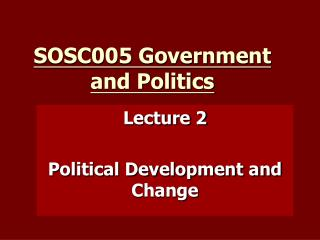 SOSC005 Government and Politics