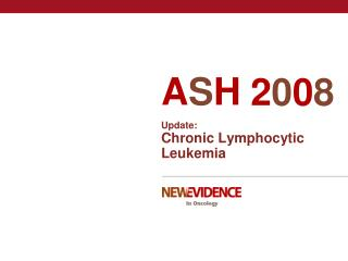 Update: Chronic Lymphocytic Leukemia