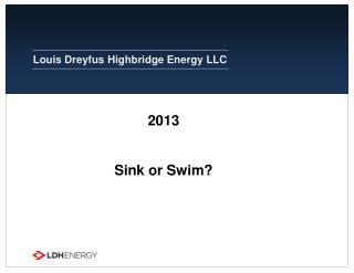 2013 Sink or Swim?