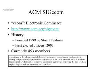 ACM SIGecom