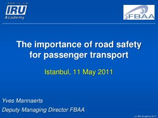 The importance of road safety for passenger transport