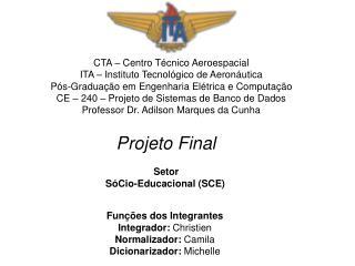 CTA – Centro Técnico Aeroespacial ITA – Instituto Tecnológico de Aeronáutica