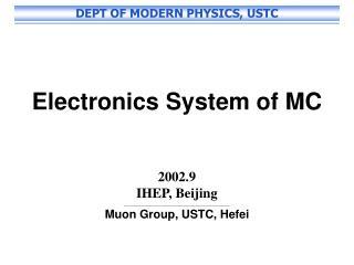Electronics System of MC 2002.9 IHEP, Beijing ___________________________________________