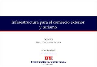 Infraestructura para el comercio exterior y turismo