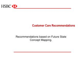Customer Care Recommendations