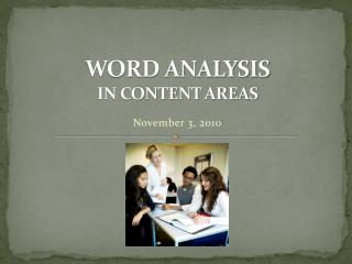 WORD ANALYSIS IN CONTENT AREAS