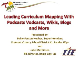 Leading Curriculum Mapping With  Podcasts  Vodcasts , Wikis,  Blogs and  More