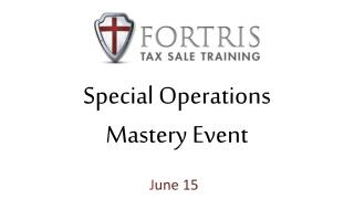 Special Operations Mastery Event