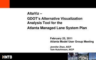 AltaViz –  GDOT's Alternative Visualization Analysis Tool for the