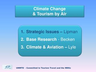 Climate Change  & Tourism by Air