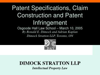 DIMOCK STRATTON LLP Intellectual Property Law