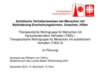 Nachweis der Effizienz von TWG's: Modellversuch des Landes Baden-Württemberg 2001