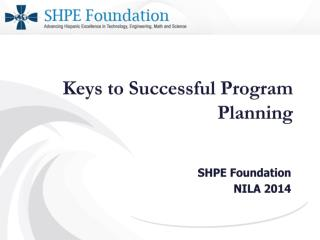 Keys to Successful Program  Planning