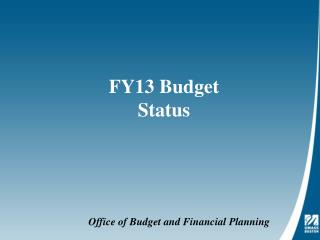 FY13 Budget Status