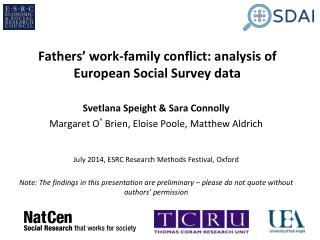 Fathers' work-family conflict: analysis of European Social Survey data