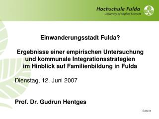 Einwanderungsstadt Fulda?