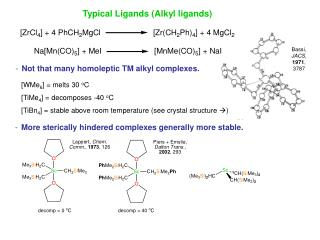 Typical Ligands (Alkyl ligands)