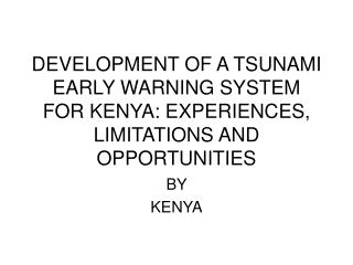 BY  KENYA