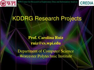 KDDRG Research Projects