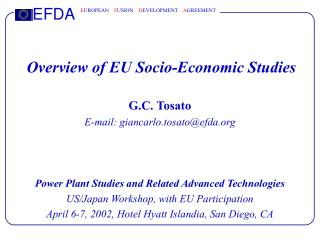 Overview of EU Socio-Economic Studies