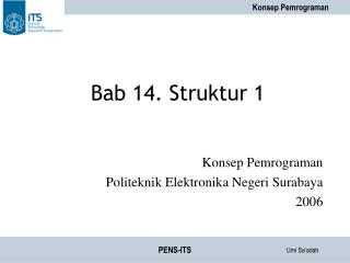 Bab 14. Struktur 1