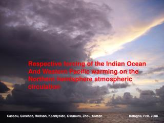 Respective forcing of the Indian Ocean And Western Pacific warming on the