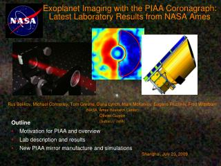 Exoplanet Imaging with the PIAA Coronagraph: Latest Laboratory Results from NASA Ames