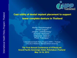 Cost-utility of dental implant placement to support lower complete denture in Thailand