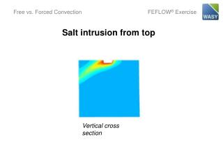 Salt intrusion from top