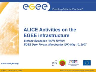 ALICE Activities on the EGEE infrastructure